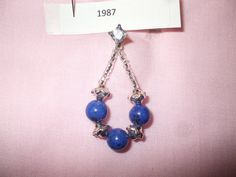 genuine lapis lazuli beads separated by silver