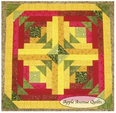 """Apple Avenue Quilts: """"Geese in the Corner"""" -- foundation pieced free pattern.  WOW!!  Love this!!"""