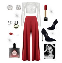 """""""Untitled #9"""" by queenofstyle96 on Polyvore featuring Boohoo, Chanel, Casadei, Accessorize, Lancôme and Yves Saint Laurent"""
