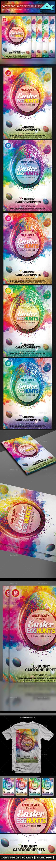 Easter Egg Hunts Festival Flyer Template — Photoshop PSD #colors #nature • Available here → https://graphicriver.net/item/easter-egg-hunts-festival-flyer-template/19748876?ref=pxcr