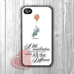 Disney Eeyore cute quote -swr for iPhone 4/4S/5/5S/5C/6/ 6+,samsung S3/S4/S5,samsung note 3/4