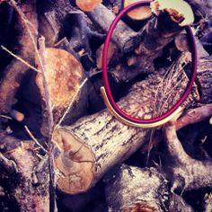 Bordeaux leather gold metal