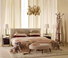 Bedroom, cozy, scandinavian interior