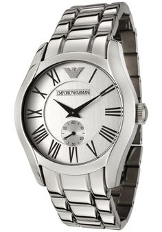 Shop for Emporio Armani Men's Classic Silver Stainless-Steel Analog Quartz Watch with Silver Dial. Get free delivery On EVERYTHING* Overstock - Your Online Watches Store! Modern Watches, Fine Watches, Rolex Watches, Watches For Men, Emporio Armani Mens Watches, Online Shopping Mall, Stainless Steel Bracelet, Quartz Watch, Giorgio Armani