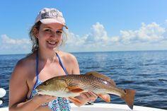 Nice catch Kate!  #redfish #fallfishing #girlswhofish