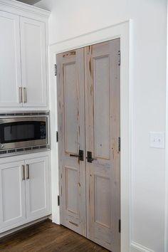 Cypress Bi Fold Pantry Doors, Transitional, Kitchen