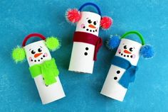 Make unusual Christmas decorations yourself - 42 craft ideas with toilet paper rolls - Weihnachtsbasteln - DIY Kids Crafts, Fox Crafts, Christmas Crafts For Toddlers, Christmas Crafts For Kids, Toddler Crafts, Christmas Snowman, Simple Christmas, Christmas Humor, Holiday Crafts