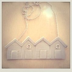 Beach Hut necklace: By Sarah Stratton