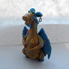 Figurine dragon of polimer clayfantasy animalOOAK от ViaLatteaArt