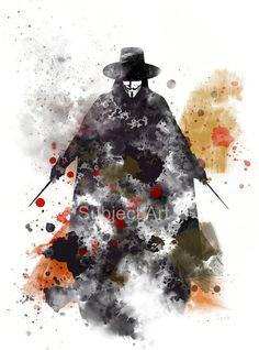 Positional Vertigo And Magnesium V For Vendeta, Vendetta Tattoo, Hacker Wallpaper, Guy Fawkes, Film School, Dc Comics, Comic Art, Fine Art Prints, Original Art