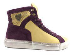#Armani #sneakersalto #giallo #viola #uomo #zooode