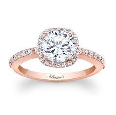 Beautiful rose gold engagement ring.