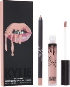 The KYLIE COSMETICS Koko K Matte Lip Kit is your secret weapon to create Kylie Jenner's perfect lip. Each Lip Kit comes with a Matte Liquid Lipstick and matching Lip Liner. Koko K, Kendall And Kylie, Kendall Jenner, Nyx Cosmetics, Dupes Nyx, Elf Dupes, Eyeshadow Dupes, Mac Brave, Lip Liner