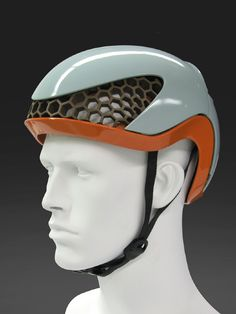 velocity cycling helmet I entirely constructed from recycled polyethylene I can be fully recycled after its use I honeycomb structure providing impact absorption and allowing for air ventilation Cool Bike Helmets, Womens Motorcycle Helmets, Motorcycle Girls, Cycling Helmet, Bicycle Helmet, Cycling Gear, Bike Photography, Pedal, Mtb