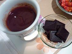 Fondue de chocolate invertido