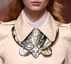 Carven Art Nouveau inspired bib necklace