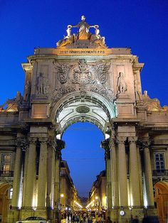 Arco do Triunfo (Triumphal Arch) da Rua Augusta - Baixa, Lisbon, Portugal.  It was built to commemorate the city's reconstruction after the 1755 earthquake.  by Portuguese_eyes