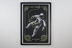 a screen printed poster of the gemini project spacewalk [3000x2000]