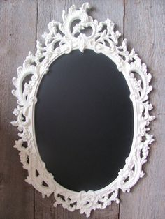 Vintage mirror turned into chalkboard frame