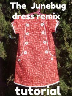 Vestido Junebug remix por fil a l'agulla (estupendísimo tutorial para un vestido de niña)