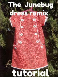The Junebug Dress Remix Tutorial - WOW!! This is an amazing tutorial!  Amazing instructions for drafting this great pattern from a basic A-line dress pattern with clear instructions and pictures to guide you through.   So clever, so well-thought-out, just amazing.