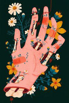 Illustration - illustration - Megan Sebesta illustration : – Picture : – Description Megan Sebesta -Read More – art illustration - Megan Sebesta - CoDesign Magazine Art Painting, Sketches, Drawings, Flower Art, Illustration Art, Art, Artsy, Art Wallpaper, Aesthetic Art