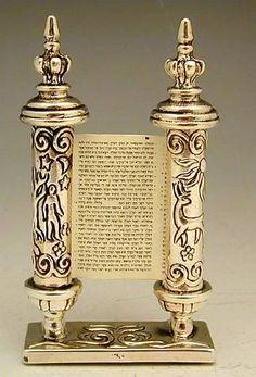Sterling Silver Torah Breshith Scroll Miniature Judaica | eBay