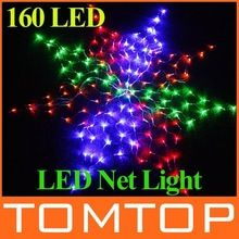 110V/220V Colorful 160 LED Net Light Christmas light Party Wedding led string light free shipping(China (Mainland))
