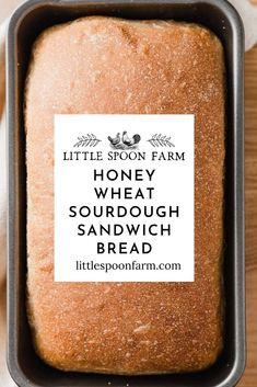 Sourdough Starter Discard Recipe, Sourdough Recipes, Sandwich Bread Recipes, Whole Wheat Sourdough Sandwich Bread Recipe, Soft Sourdough Bread, Fermented Foods, Bread Baking, Starter Recipes, Muffins