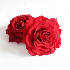 Preserved Flower Heads in Red.  Fantastic option for wedding flowers.  Look and feel like the real thing, because they are, but will last and last. #wedding #flowers #rose #afloral