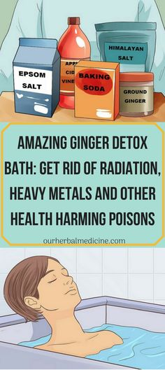 Amazing Ginger Detox Bath: Get Rid of Radiation, Heavy Metals and Other Health Harming Poisons - Detox - Diet Week Detox Diet, Detox Diet Drinks, Body Detox Cleanse, Detox Diet Plan, Bath Detox, Stomach Cleanse, Health Cleanse, Ginger Detox, Sugar Detox