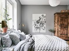 Cozy bedroom in grey - COCO LAPINE DESIGNCOCO LAPINE DESIGN