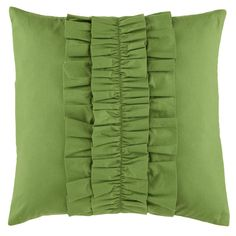 Shop Ruffle Throw Pillow (Green).  Add the kind of stylish accent to your couch or bed that's usually reserved for '70's prom tuxedoes and pirate shirts.