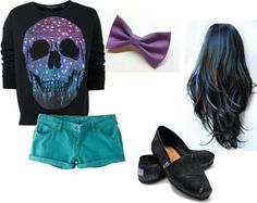 """Teal and Purple"" by misskayluhmarie on Polyvore"