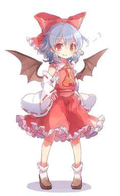 Remilia cosplays Remu.