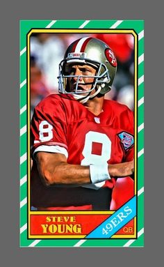 aceo steve young rc tsc 1 3 limited art sketch card 1986 style topps sf  49ers from  75.0 d60ced260