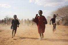 #ShelterBox #Kenya #2011 #Running #Kids