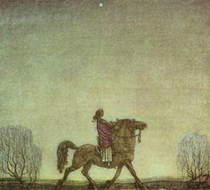 """John Bauer, illustration for """"The Ring."""""""