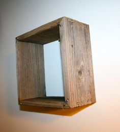 Reclaimed Wood Shadow Box with Steel Staples by CAZwoodshop, $16.00