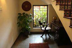 Casa Rojo by Benny Kuriakose, Architect in chennai,Tamil Nadu, India Gypsy Home Decor, Ethnic Home Decor, Indian Home Decor, Indian Decoration, Asian Decor, Living Room Interior, Home Interior Design, Interior And Exterior, Interior Ideas