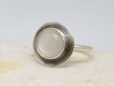 Moonstone ring Moonstone silver ring African by SILVERstro on Etsy