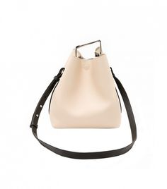 Phillip Lim Quill Mini Bucket Bag // a classic take on the standard bucket bag Beige Purses, Mini Purse, Phillip Lim, Leather Purses, Shoe Bag, Quill, Lauren Conrad, Hand Bags, Bucket Bags