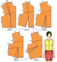 Sudha's Apparel Patterns: Basic Dart Manipulations in Women's wear {Single Darts}