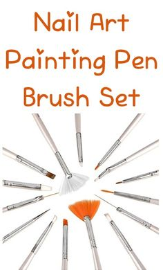 Nail Art Painting Pen Brush Set ~ $2.09 Shipped! {+ nail art dotting pens deal} #nails