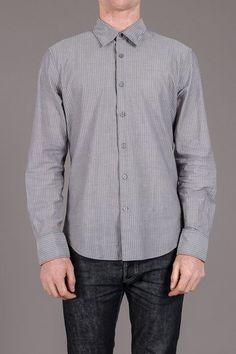 John Varvatos Basic Point Collar Shirt with Wire