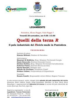 Il 28 novembre a Pontedera il convegno sul polo industriale