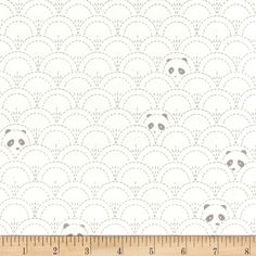 Art Gallery Pandalicious Jersey Knit Hidden Panda Cottonbud from @fabricdotcom  Designed by Katarina Roccella for Art Gallery Fabrics, this collection is perfect for panda lovers. This lightweight stretch cotton jersey knit is perfect for making t-shirts, loungewear, children's apparel, knit dresses and more! It features a soft hand and about a 50% four way stretch for added comfort and ease. Colors include grey and white.