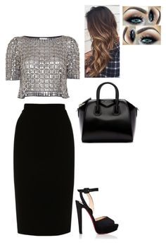Untitled #155 by fionacoyne100 on Polyvore featuring polyvore, fashion, style, Temperley London, L.K.Bennett, Christian Louboutin, Givenchy and clothing After Wedding Dress, Club Clothes, New Look Fashion, Professional Attire, Club Outfits, Virtual Closet, Night Club, Polyvore Fashion, Evening Dresses