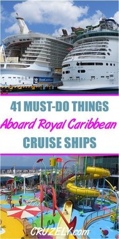 41 Must-Do Activities Aboard Royal Caribbean Ships - 41 Must-Do Activities Aboard Royal Caribbean Ships Source by shouldbecruising - Cruise Tips Royal Caribbean, Royal Cruise, Royal Caribbean Ships, Caribbean Cruise Outfits, West Coast Trail, Cruise Travel, Cruise Vacation, Honeymoon Cruise, Family Cruise