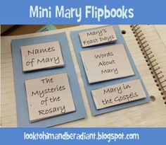Mini Mary flipbooks. Free Printable. From looktohimandberadiant.blogspot.com